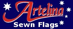 Flags and banners sewn in Brisbane by Artelina Sewn Flags - high quality - good value